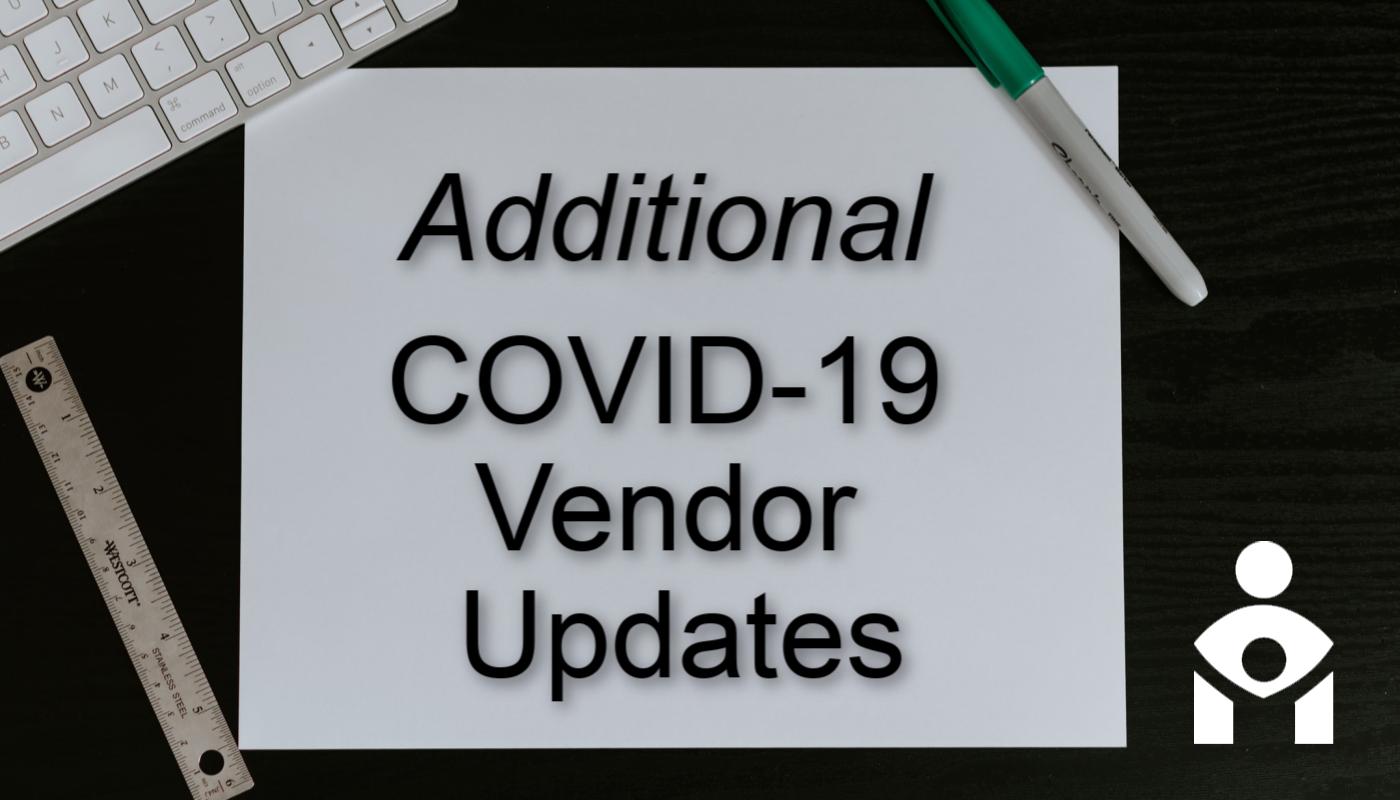 More Vendor Updates