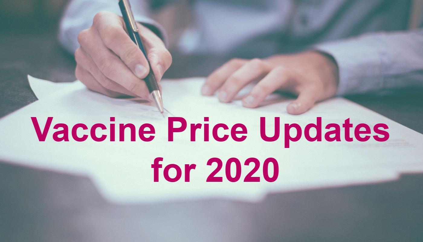 Vax Price Update 2020